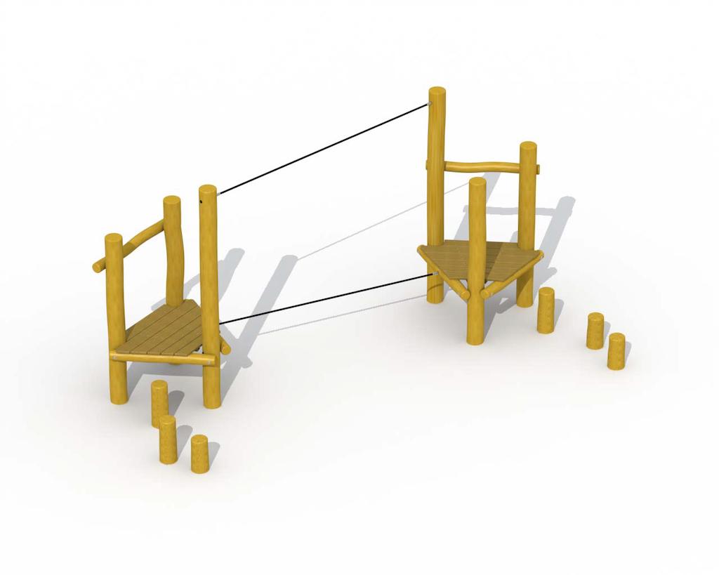 Cours d'agilité (corde d'équilibre)