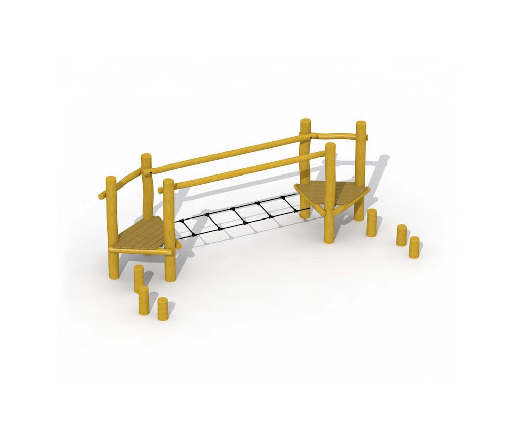 Parcours d'agilité (échelle de corde)