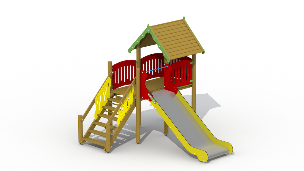 Maison sur pilotis (Inox Slide)