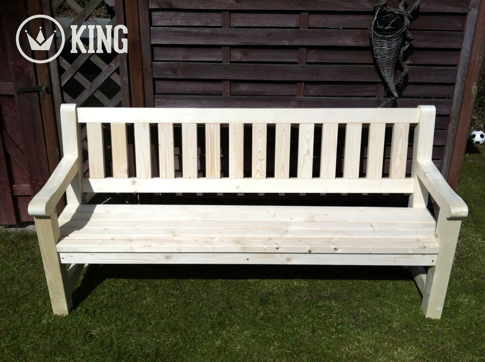<BIG><B>KING &#174; Banc de jardin 2.00m (NATURE)</B></BIG>