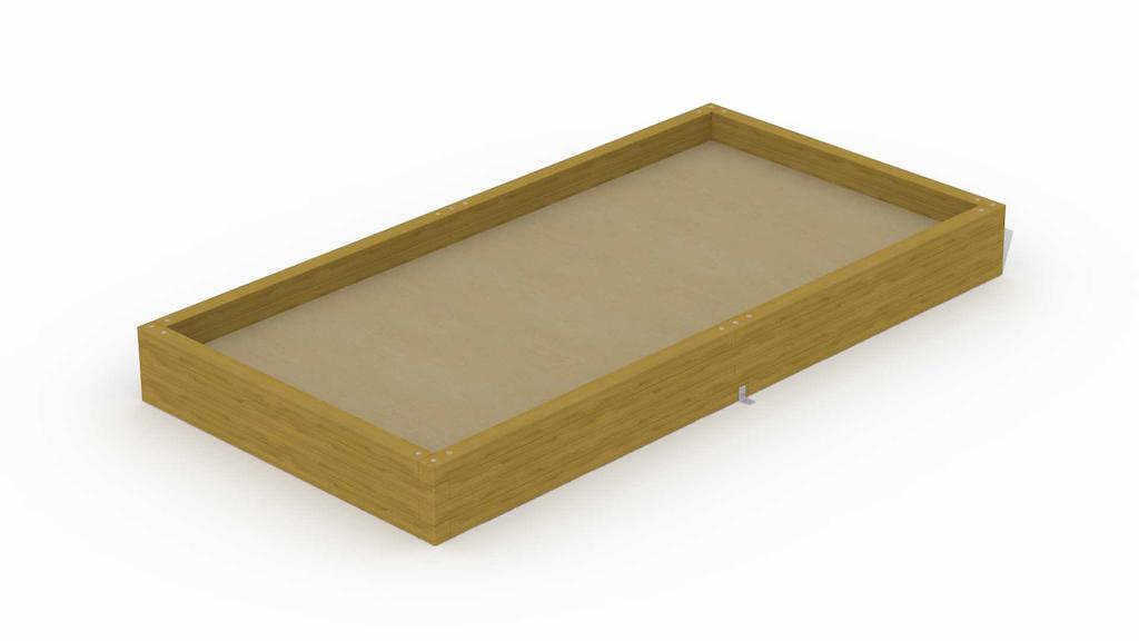 """Zandbak in balken \""""rechthoekig 1,8 x 3,6 m\"""""""