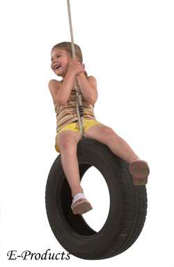 <BIG><B>autobandschommel met touw</B></BIG>