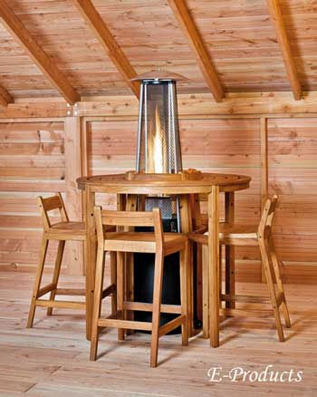 <BIG><B>Ensemble de bar Arden en bois dur</B></BIG>