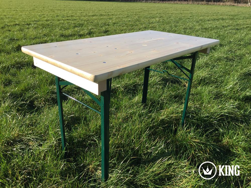 <BIG><B>KING &#174; Table pliante 110cm x 60 cm (armature vert fonc&eacute;)</B></BIG>