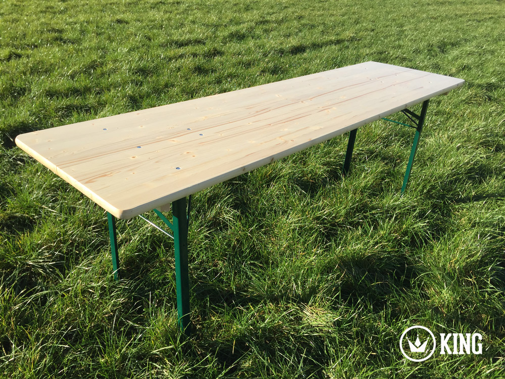 <BIG><B>KING ® Table Pliante 220cm x 60cm </B></BIG>