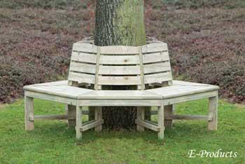 <BIG><B>Banc d\'arbre avec dossier en pin</B></BIG>