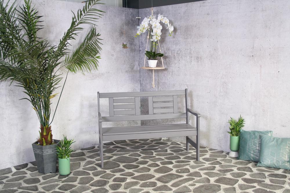 <BIG><B>Amelie 2-zits tuinbank donker grijs</B></BIG>