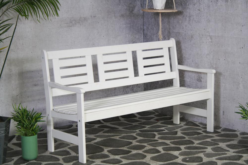 Canapé de jardin Amelie 3 places blanc