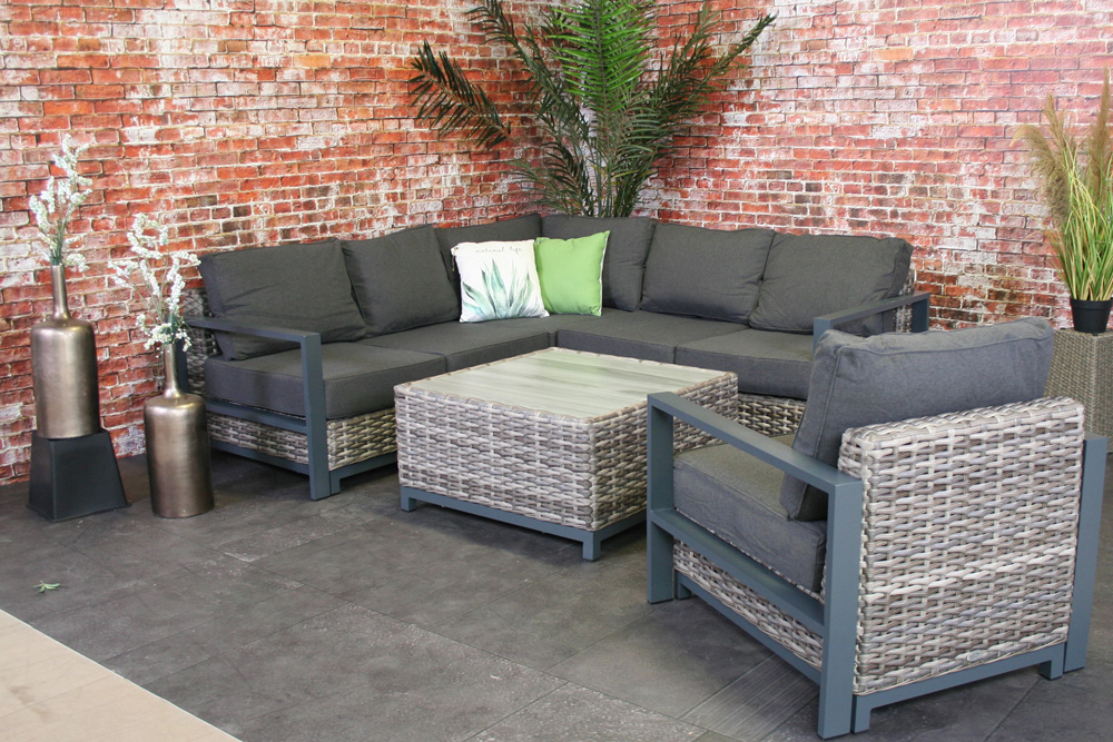 <BIG><B>Ensemble de salon en Alu et Wicker Casablanca</B></BIG>