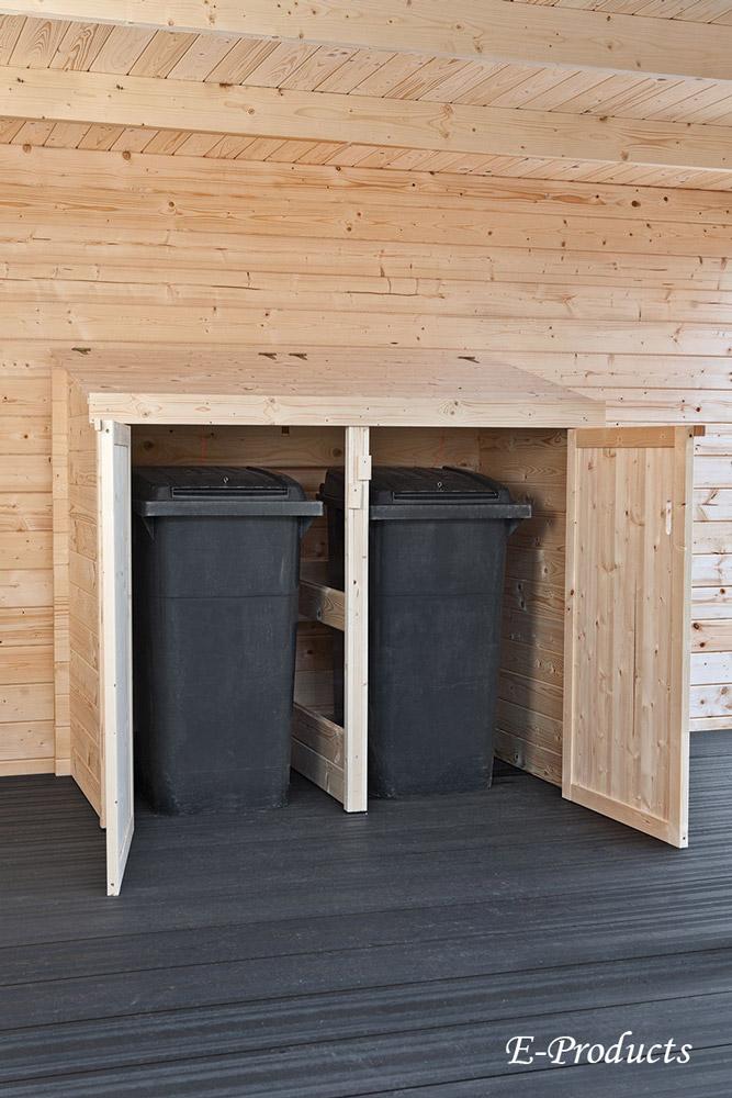 <BIG><B>VUREN HOUTEN Container berging dubbel (168 x 90 x 150 cm)</B></BIG>