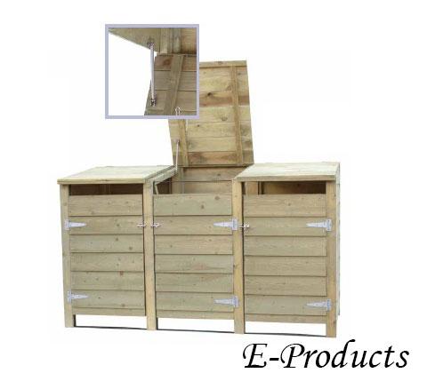 <BIG><B>VUREN HOUTEN Triple containerkast (126 x 209 x 96 cm)</B></BIG>