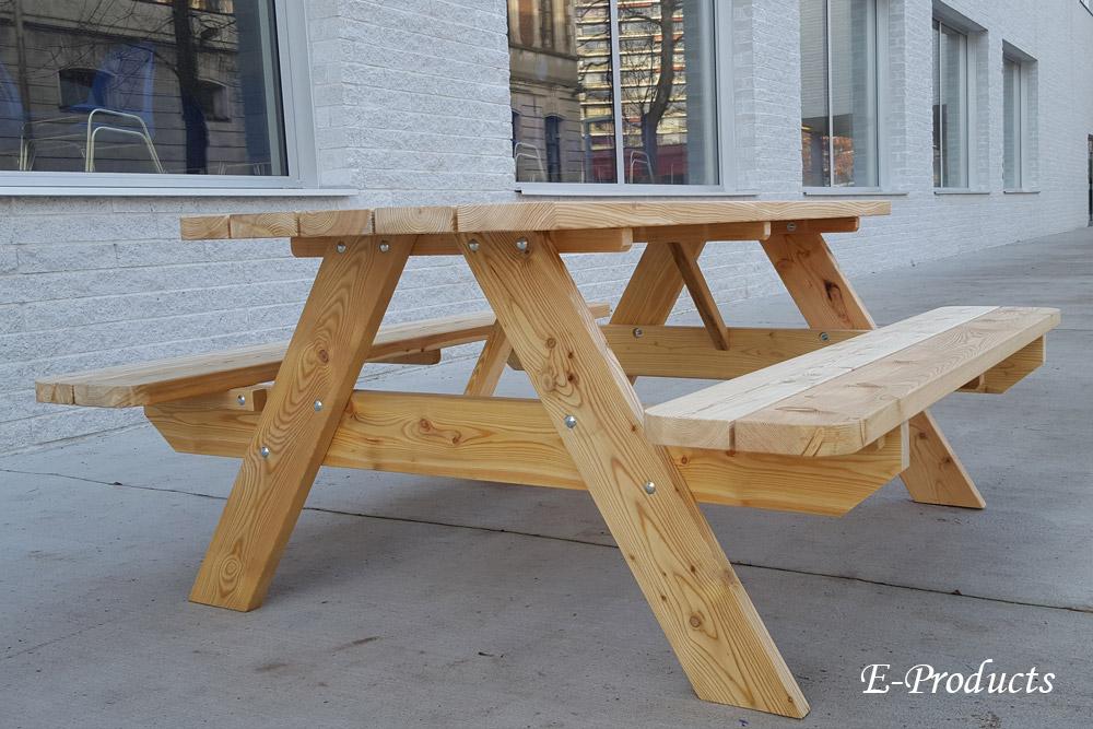 <BIG><B>DOUGLAS Table de pique-nique 180 cm / 4 cm d'&eacute;paisseur</B></BIG>