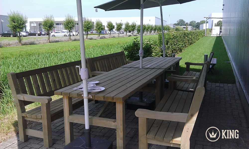 <BIG><B>KING &#174; Set de table de jardin 2.00m (40m)</B></BIG>