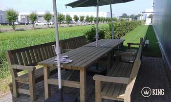 <BIG><B>KING ® Set de table de jardin 2.00m (40 cm)</B></BIG>