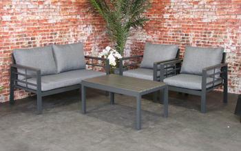 <BIG><B>Forza aluminium loungeset antraciet polywood</B></BIG>