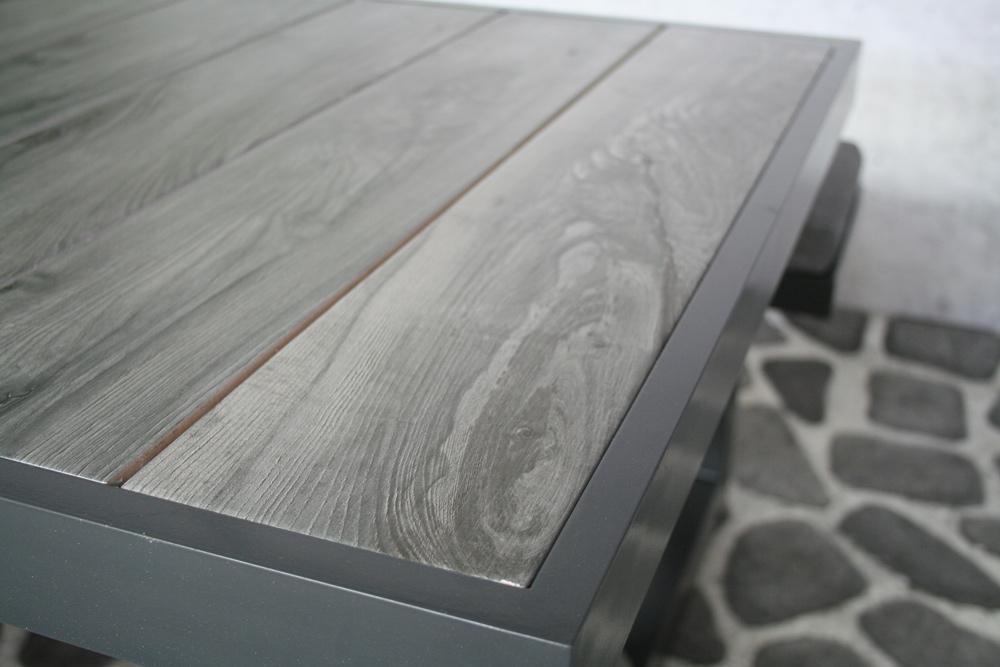 Table de pique-nique Merope anthracite (aluminium)