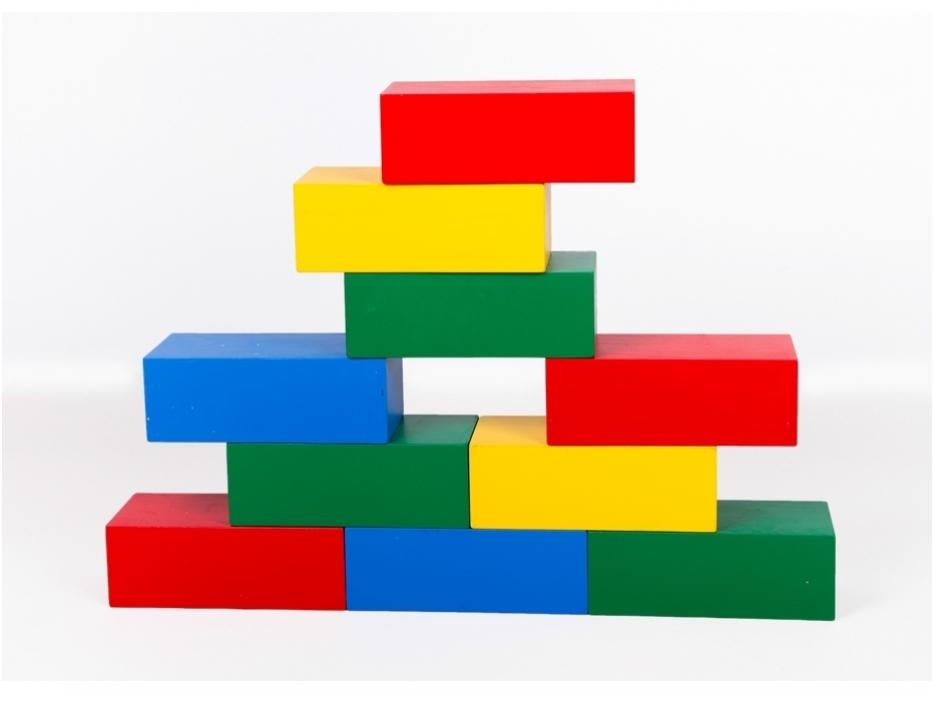Gekleurde bouwblokken