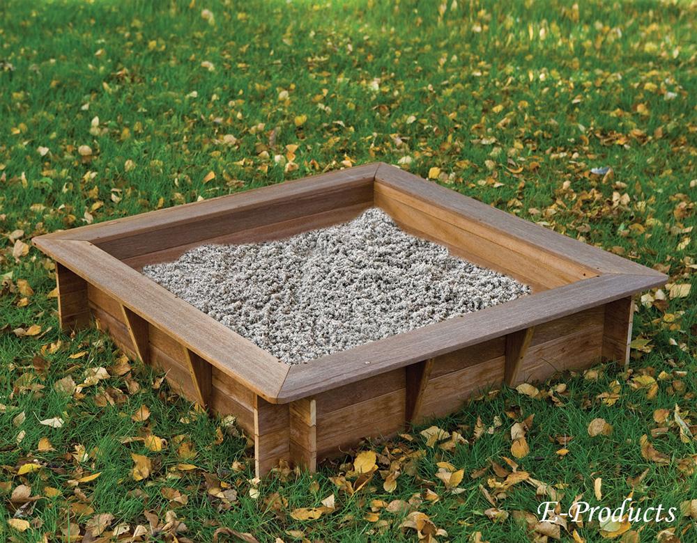 <BIG><B>Bac à sable en bois dur (120 x 120 cm)</B></BIG>