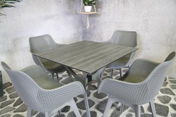 <BIG><B>Adam PP tafel 80x80cm antraciet</B></BIG>