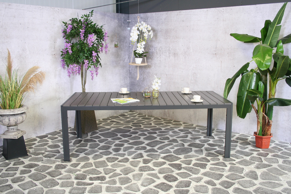 Table Zoutelande Polywood Gris 220x100cm