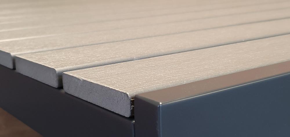 <BIG><B>Metropolis Polywood Tafel Grijs 160x90cm</B></BIG>