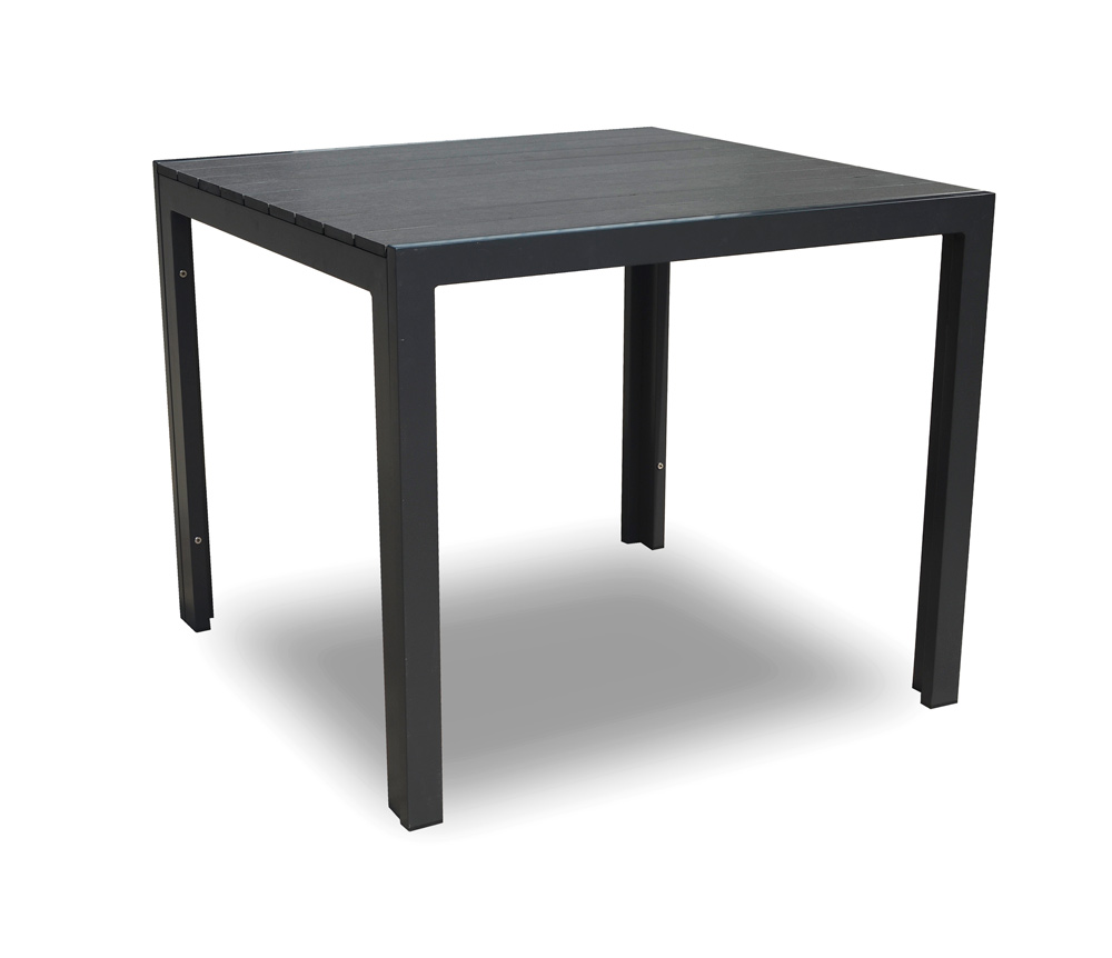 <BIG><B>Table &agrave; manger carr&eacute;e Jeffrey 90x90cm anthracite</B></BIG>