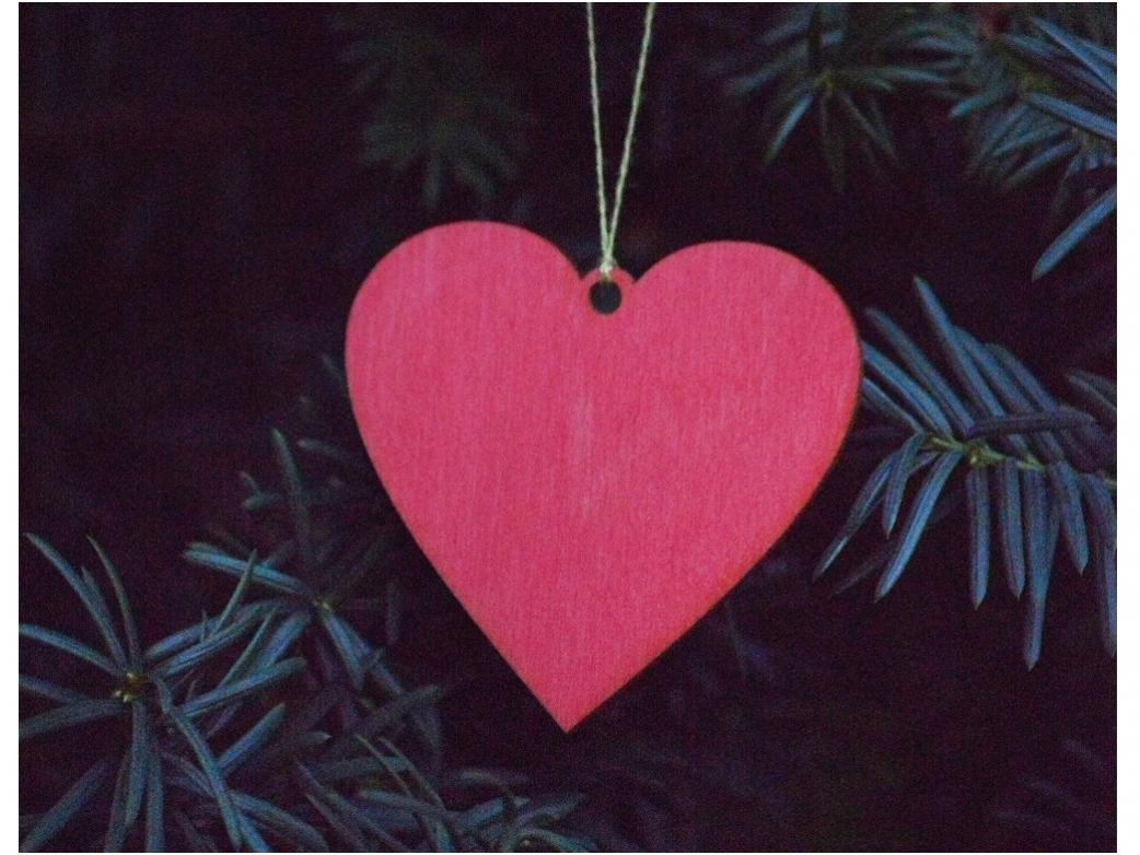 Kerst hart hanger