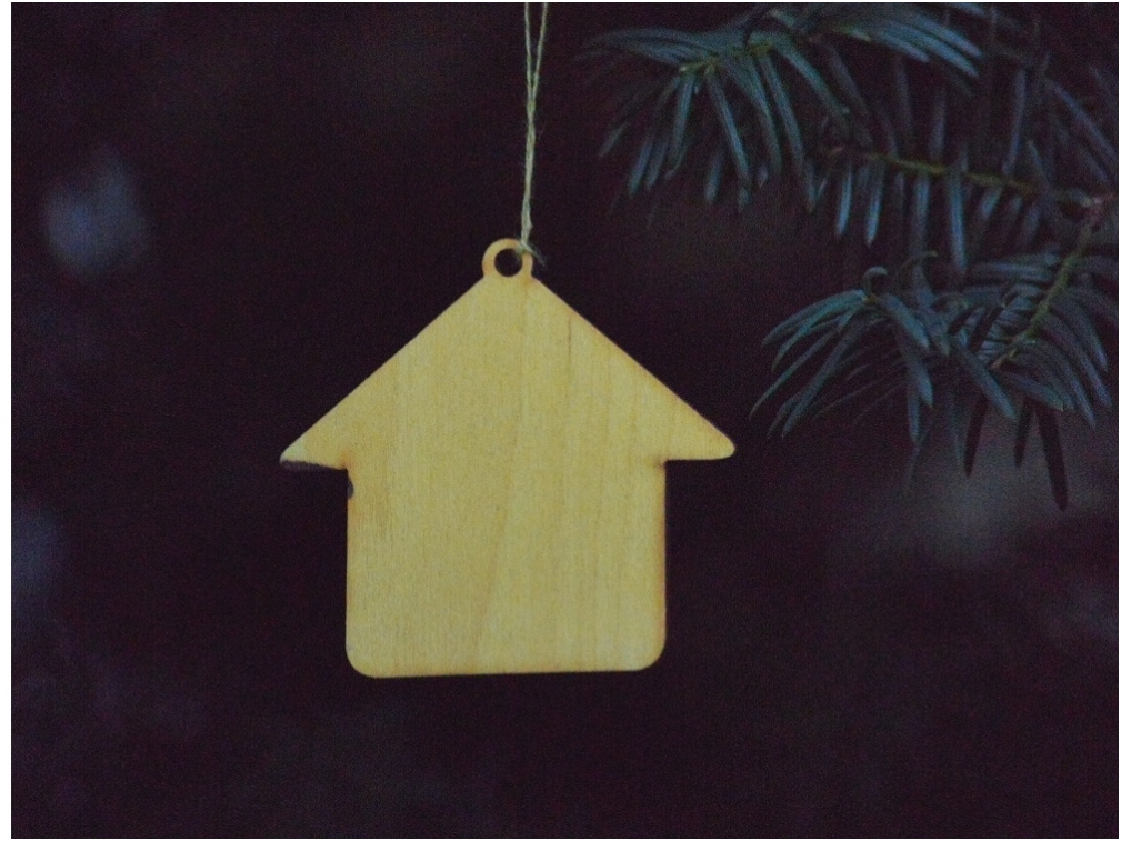 Kerst huis hanger