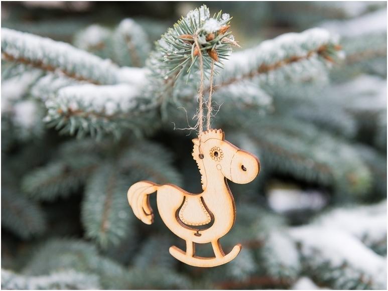 Kerst paard hanger