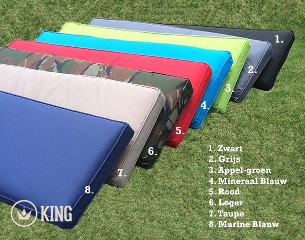 <BIG><B>Picknicktafel kussen mineraal blauw 57cm</B></BIG>
