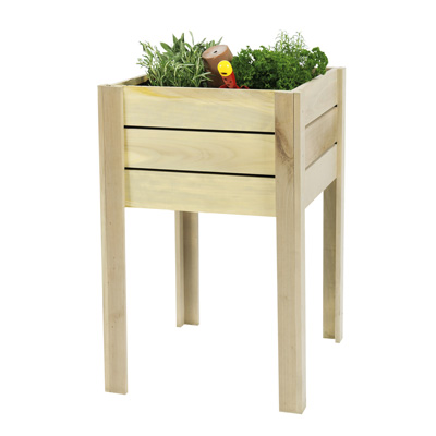 <BIG><B>Grenen minigarden op poten (50 x 50 cm)</B></BIG>