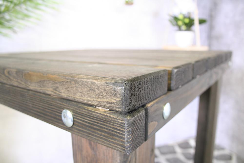 Table de bar Geralt 80x80 vieux gris