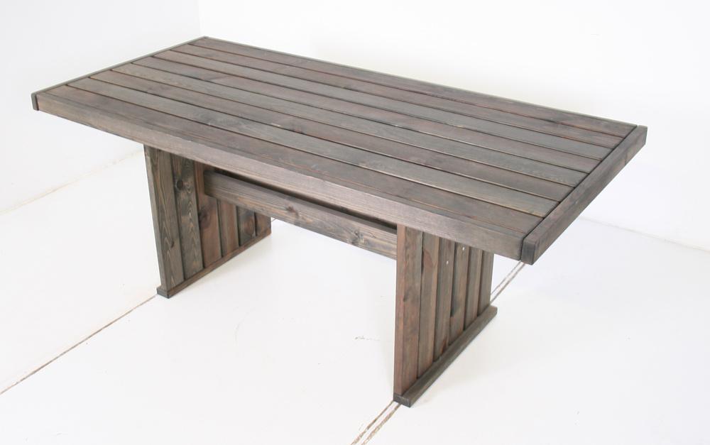 Table à manger Geralt 180 x 85 cm vieux gris
