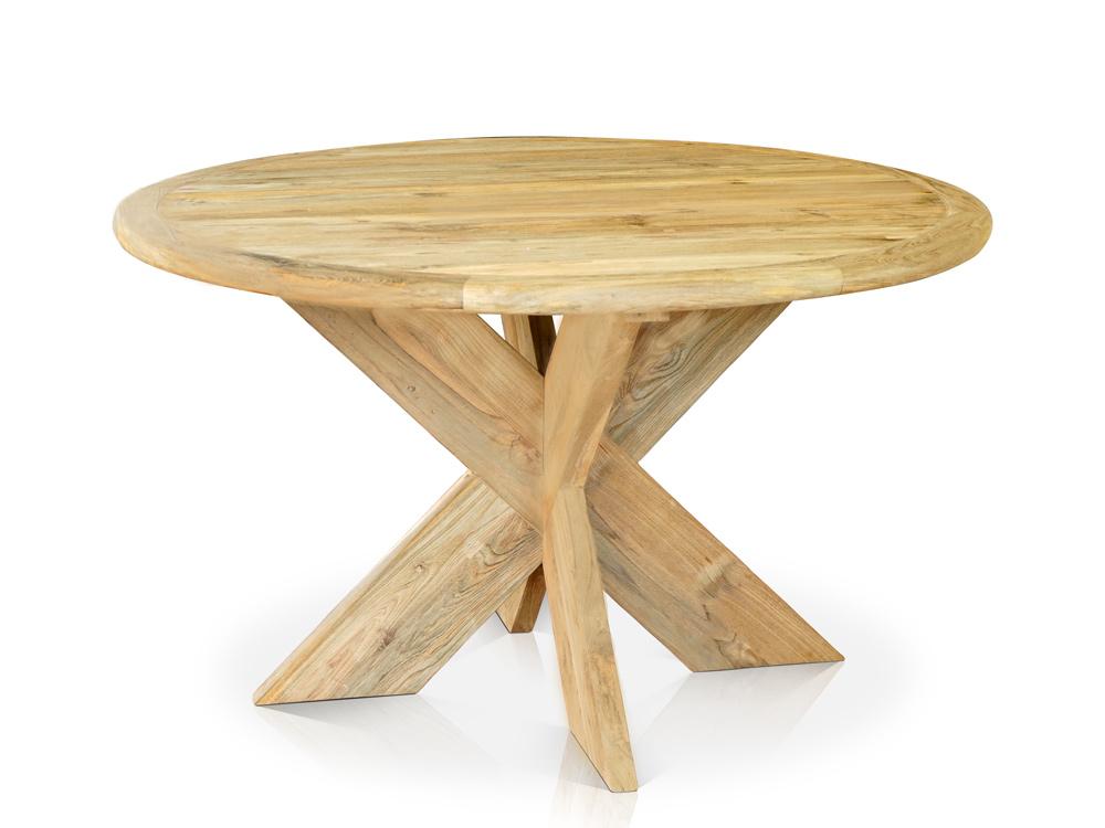 <BIG><B>Table Amsterdam en teck &#216; 130 cm</B></BIG>