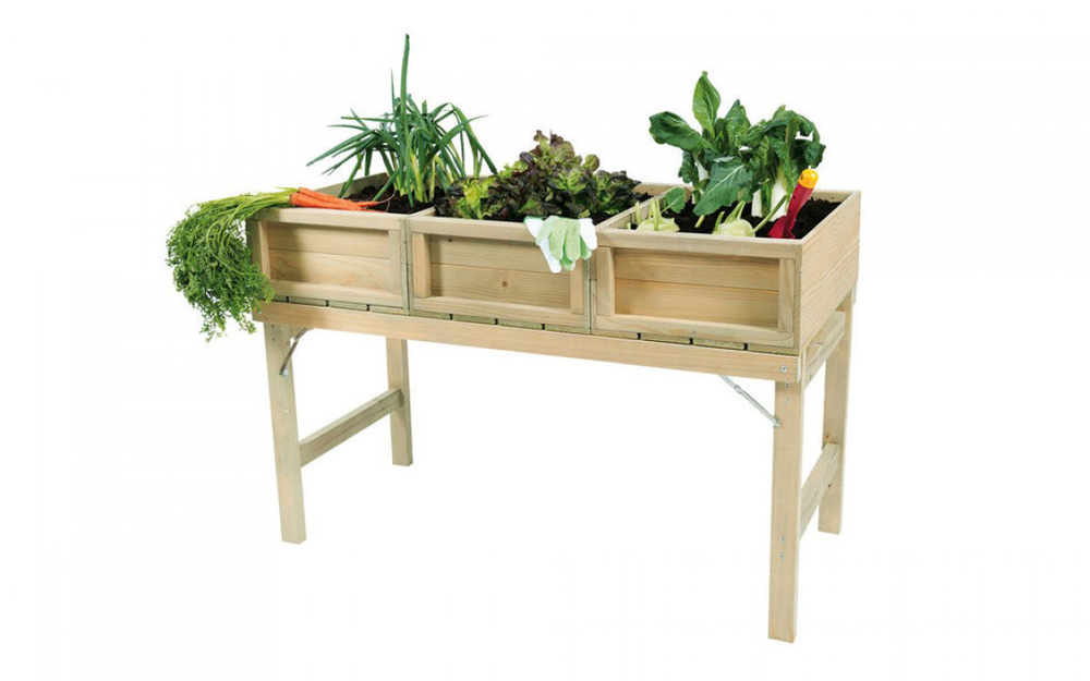 <BIG><B>Potager en pin - table de culture (120 x 61 cm)</B></BIG>