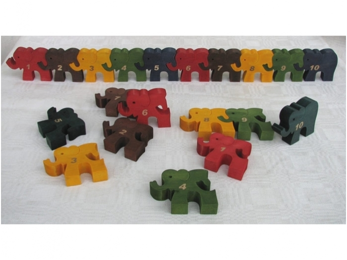 Olifantnummer-puzzel