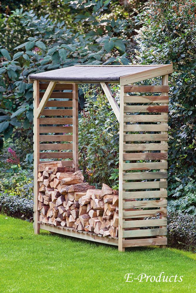 <BIG><B>Abri-d\'entreposage pour bois de cheminée (180 x 50 x 180 cm)</B></BIG>
