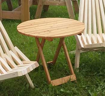 <BIG><B>Opklapbare ronde tafel natuur (+ VIDEO)</B></BIG>