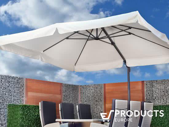 <BIG><B>Parasol  Brest Wit (300x400cm)</B></BIG>