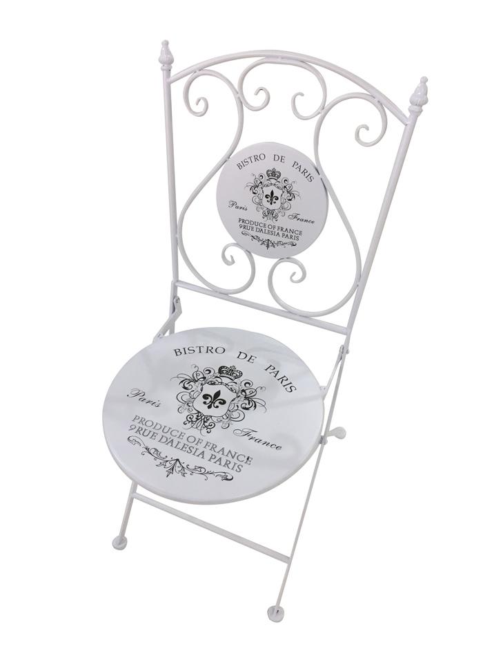 <BIG><B>Chaise blanche Bistro de Paris</B></BIG>