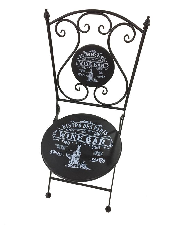 <BIG><B>Chaise noire Bistro de Paris</B></BIG>