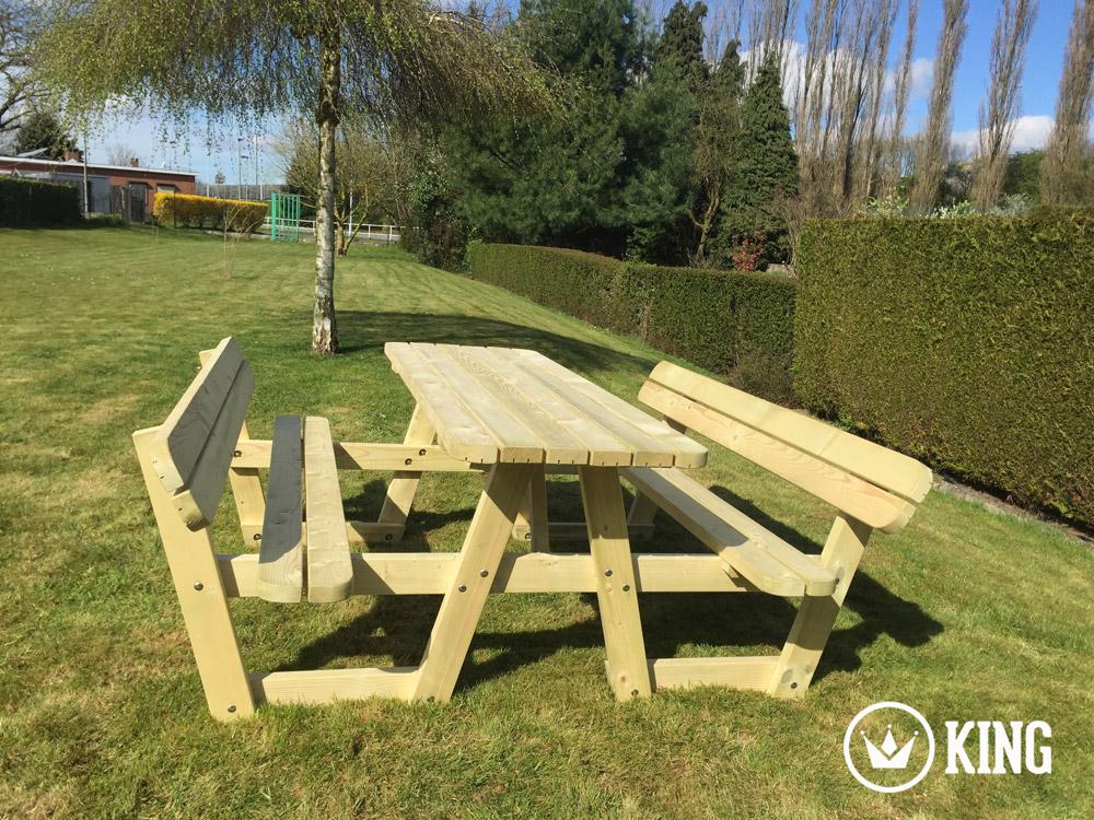 <BIG><B>180 cm picknicktafel met rugleuningen</B></BIG>