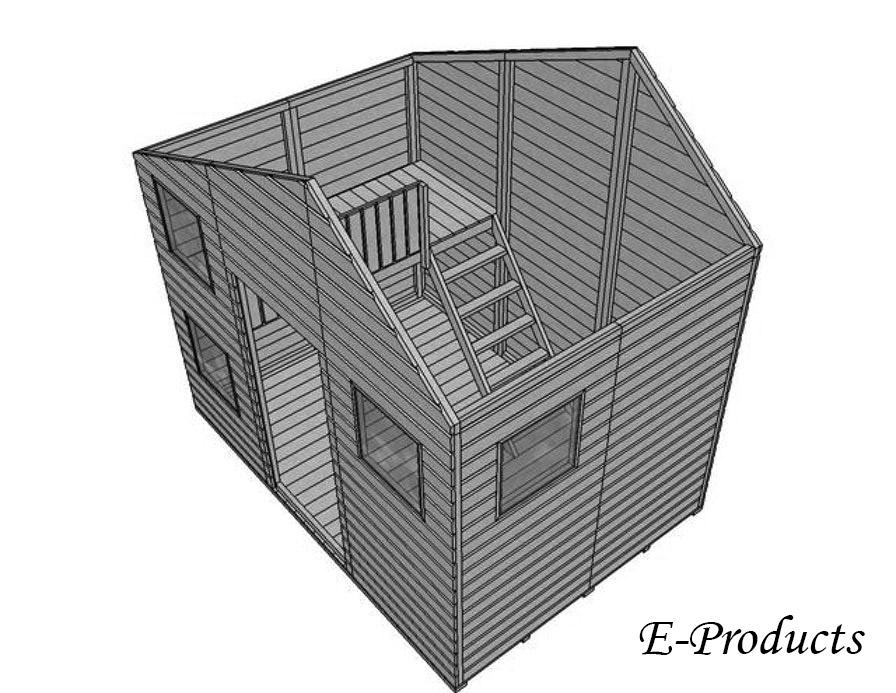 <BIG><B>Speelhuisje Doornroosje (230 x 240 x 267 cm)</B></BIG>