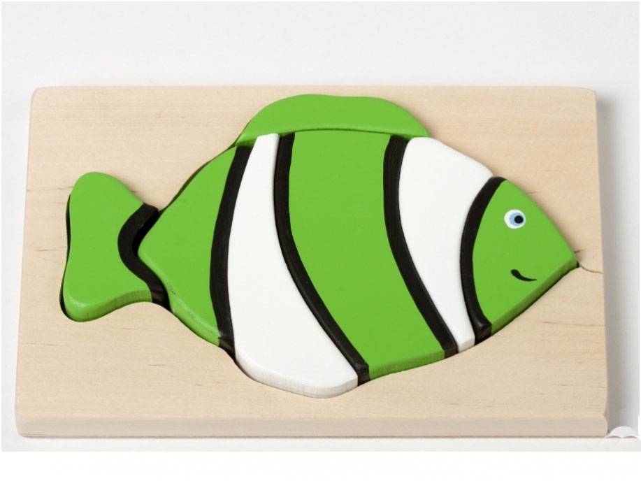 Puzzel groene vis