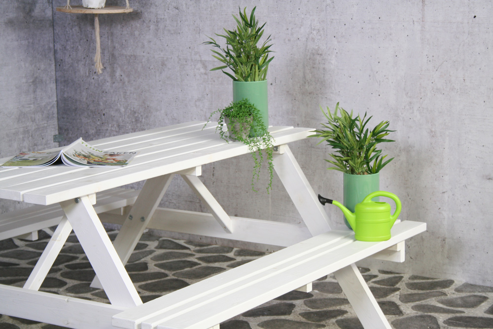 Remia witte picknicktafel 150cm