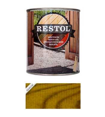 <BIG><B>RESTOL HOUTOLIE TUINHOUTGEEL (1 liter)</B></BIG>
