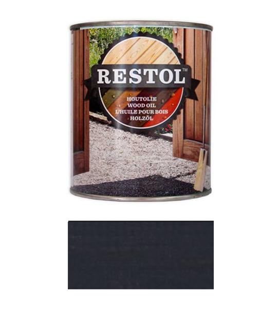 <BIG><B>RESTOL Huile de bois gris anthracite (1 litre)</B></BIG>