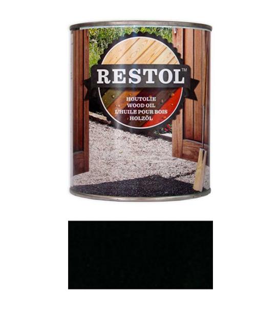 <BIG><B>RESTOL HOUTOLIE EBBENZWART (1 liter)</B></BIG>