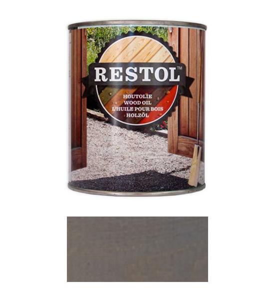 <BIG><B>RESTOL HOUTOLIE GRIJS (1 liter)</B></BIG>