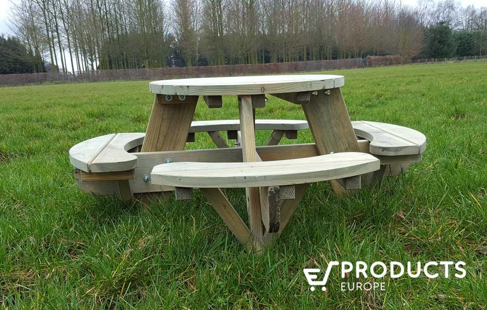 <BIG><B>Table de pique-nique ronde pour les tout-petits (120 x 120 cm)</B></BIG>